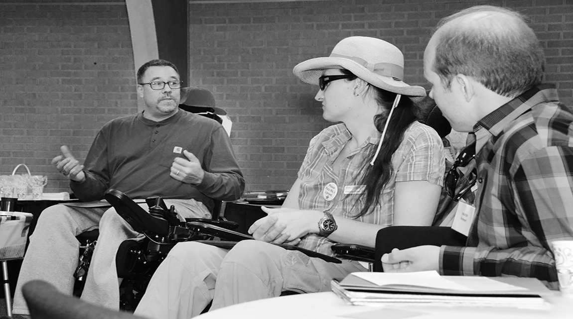 Picture of 3 Disability Advocates from left to right: Douglas Howey, Kimberly Jackson (also a Member of the Board) and Haven Rohner