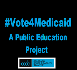 #Vote4Medicaid Logo, a public education project