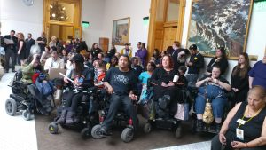 People with Disabilities at a bill hearing