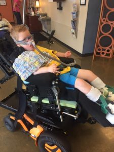 Pictured here is Isaac in his chair, the very day the family got it!