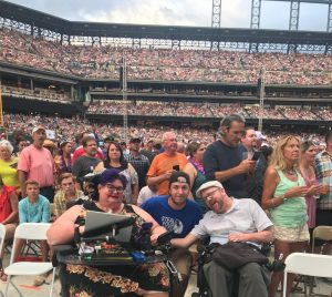 Picture of Carrie Lucas, her nephew, Gavin and Kevin Williams at Coors Field 2018 Jimmy Buffet/Eagles concert 2018