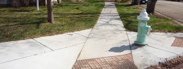 picture of curb cuts at an intersection